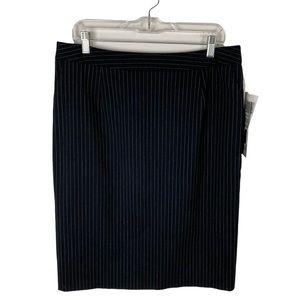 Sag Harbor Slimming Solution Missy Striped Skirt